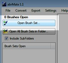 Converting Photoshop brushes for use in Paintshop Pro