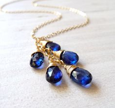 Kyanite cluster necklace in 14k gold filled #jewelry #accessories #gemstone