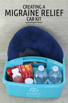 How to Make a Migraine Relief Car Kit @newlywedsurvivial from @migrainesavvy