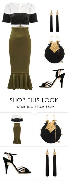 """""""Untitled #2726"""" by applelula on Polyvore featuring Rachel Gilbert, Okhtein, Nicholas Kirkwood and Yves Saint Laurent"""