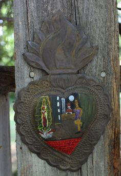 "Milagro Ex Voto Painting ""Working Girl"" & Guadalupe Mexican Folk Art Retablo"