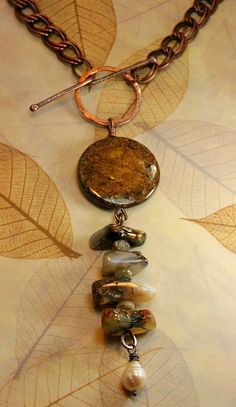 Among the Leaves - Mother Earth Necklace  Hammered Copper by AllowingArtDesigns, $68.00