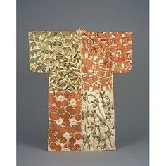 back of Kosode (Short-Sleeved Kimono) with Alternating Blocks of Flowers and Plants in Embroidery and Gold L, Momoyama Period, 16th century, Kyoto National Museum