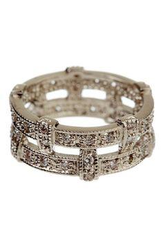 Fray Dee Jewelry  Basket Weave CZ Ring