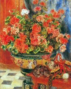 Pierre Auguste Renoir (1841-1919) - Fleurs et chats, 1881