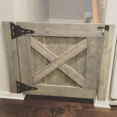 This Farmhouse Baby Gate can be customized to fit any stairway, doorway or…