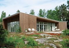 Multi-disciplinary Swedish firm Claesson Koivisto Rune has designed two prefab homes, the first for kit-house manufacturer Arkitektus with an inside-out approach. / The Green Life <3