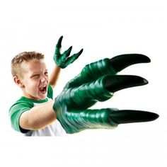 These Velociraptor claws are made like gloves that slide easily over hands of virtually any size.