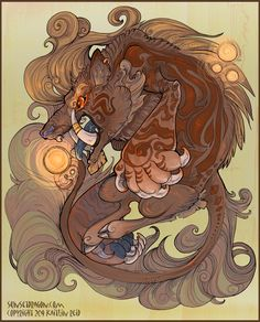 Baku (獏 or 貘) are Japanese supernatural beings that devour dreams and nightmares. They have a long history in Japanese folklore and art