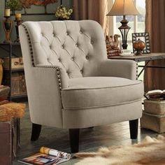 Kelly Clarkson Home Fortissimo Armchair Wingback Armchair, Velvet Armchair, Chair Upholstery, Chair Cushions, Living Tv, Living Rooms, Swivel Barrel Chair, Club Chairs, Modern Farmhouse