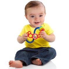 オーボール フレックス&スライド オーボール・シリーズの不思議な形のチェイサーラトル(ガラガラ)。音と触感を楽しめる赤ちゃんの手遊びにオススメな知育玩具です。