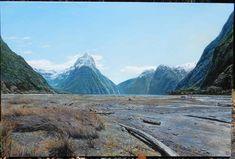 Milford Sound (Te Anau) – Vin Jung Te Anau, New Zealand Landscape, Milford Sound, Mountains, Street, Oil Paintings, City, Travel, Viajes