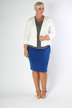 Yacht Club Pencil Skirt - Royal Blue (Sizes 14 - 18)