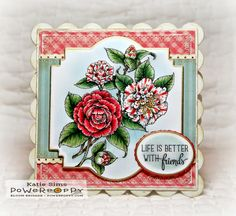 Inky Peach Designs: Power Poppy's December Release- Camellias Digital Stamp Set by Power Poppy, card design by Katie Sims.