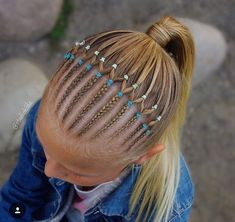 Girl classic fashion hairstyle idea - Page 16 of 145 - Inspiration Diary Cornrow Hairstyles White, Girls Natural Hairstyles, Baby Girl Hairstyles, Gymnastics Hair, Girl Hair Dos, Crazy Hair, Hair And Nails, Hair Beauty, Hair Accessories