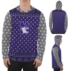 2a89d44df Northwestern Wildcats Hooded Long Sleeve Shirt Christmas Party Design |  MadeLoyal. Northwestern University Trademark Licensing