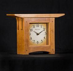 Craftsman Style American Cherry Mantel Clock