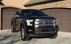 2017 F150 Platinum Black Leveling Kit 35 Tires