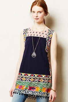"""Anthropologie - Tinamou Stitched Tunic-on the """"wish"""" list"""