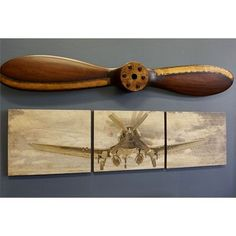 Delicieux Corsair Triptych And Propeller Set (Pre Order). F4u CorsairDeco  AviationOffice ...