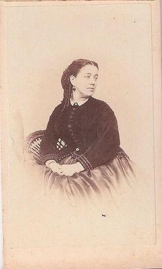 Civil War Era CDV Photo of Seated Lady Cambridgeport Mass | eBay