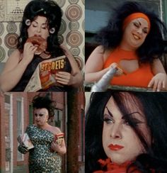 Divine (as Dawn Davenport) from John Waters' Female Trouble, 1974. All Ratted Up Like a Teenage Jezebel: How to dress like a John Waters character.