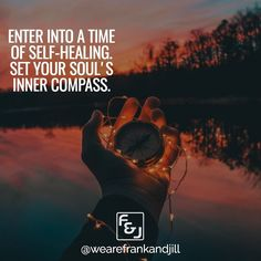 Enter into a time of self-healing and set your soul's inner compass.  Double tap if you agree and tag someone who needs to see this. follow us @wearefrankandjill