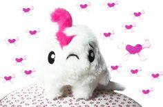 Monster & Tiere - Fluse :Kawaii Plush Kuschel Monster Stofftier ... - ein Designerstück von Fluse-123 bei DaWanda