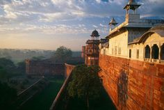 Agra Fort, India. While this portion was built in the 1500's, the fort has been here for more than 2,500 years.
