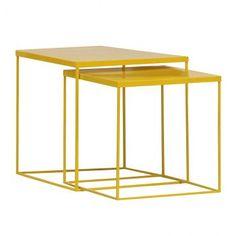 Beistelltisch Quadrato (2er-Set) - Gelb 80 eur