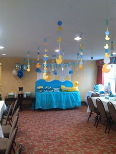 Fiesta de patitos Cheap Baby Shower, Baby Shower Games, Baby Shower Parties, Baby Boy Shower, Ducky Baby Showers, Rubber Ducky Baby Shower, Rubber Ducky Party, Juegos Baby Shower Niño, Dibujos Baby Shower