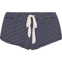 Eberjey Striped stretch-jersey pajama shorts ($32) ❤ liked on Polyvore featuring intimates, sleepwear, pajamas, shorts, bottoms, blue, striped pyjamas, eberjey sleepwear, stretch jersey and striped pajamas