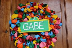 Cute wreath & other ideas for Sesame Street party