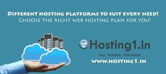 Visit: www.india.hosting1.in  Hosting1.in introduces most reliable and sheltered Hosting services. Offering varied plan of packages, we ensure your requirements are met with the most relevant and appropriate plan, be it Shared Hosting or Reseller Hosting.