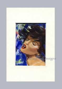 """This is an ACEO created from my original acrylic painting. It is printed on professional paper and backed with buffered PH-neutral 4 ply mat board.   """"Love Songs"""" by MoxyFoxDesigns for  $10.00.  http://www.zibbet.com/MoxyFoxDesigns/artwork?artworkId=886877"""