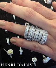 Henri Daussi #diamond #rings #jewelry like the polish too