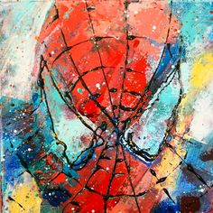 """""""Spiderman"""" by #calinalefter #art #forkids #oil #canvas #wallart #room #color #etsy"""