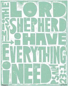 Psalm 231 The Lords My Shepherd