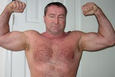 beefy daddy bear CAROLINA JIM flexing GLOBALFIGHT DVDs