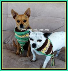 Posh Pooch Designs Dog Clothes: Bohemian Dog Bandanna Free Crochet Pattern | Posh Pooch Designs