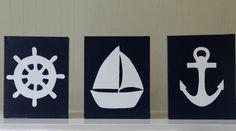Nautical Nursery Decor Wall Decor Acrylic by JoanitaBonita on Etsy, $50.00