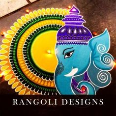 Check out latest ganesh rangoli designs and patterns which you can use to decorate your home this ganesh chaturthi. Easy Rangoli Designs Diwali, Rangoli Simple, Simple Rangoli Designs Images, Rangoli Designs Latest, Free Hand Rangoli Design, Rangoli Designs Flower, Rangoli Border Designs, Small Rangoli Design, Rangoli Patterns