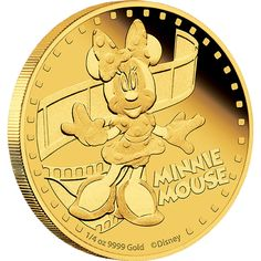 Disney Mickey & Friends – Minnie Mouse 2014 1/4oz Gold Proof Coin
