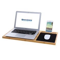 SONGMICS Bamboo Lap Desk Board Multi Tasking Laptop Tablet Cellphone Stand Holder with Builtin Mouse Pad ULLD560 * You can find more details by visiting the image link. Note:It is Affiliate Link to Amazon.