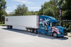 TLI Air Force Volvo truck honoring military veterans.