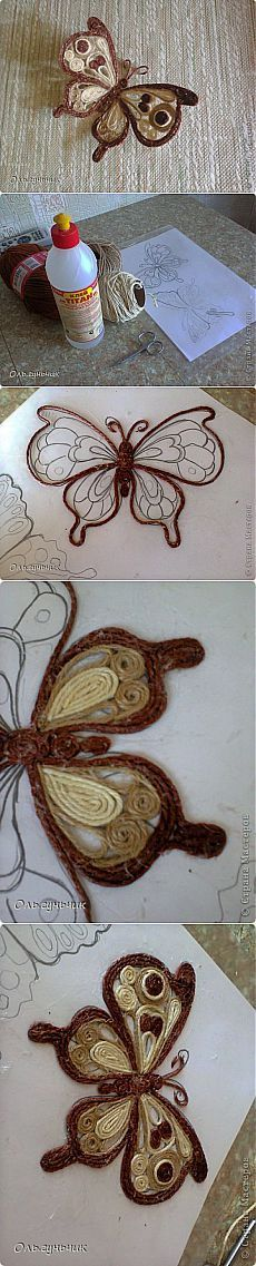 MK  mariposa filigrama hilo , o papel periodico