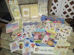 Huge Assortment Lot Scrapbook Stickers Girls Friends Best Friends Frames Embellishments Card Making Lot by EvenTheKitchenSinkOH on Etsy