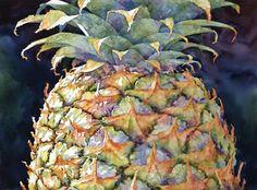 Sue Archer watercolor pineapple