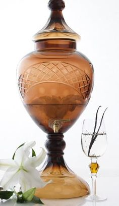Looking for a unique way to decorate your table for an upcoming party or event? A beautiful Beverage Server filled with one of our Spa Waters definitely makes a wonderful centerpiece, plus offers a Signature Drink for your guests to sip and savor.