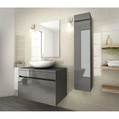 meubles de salle de bains Delpha collection Unique mod¨le bois 90 cm